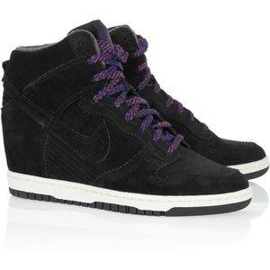 Nike Dunk Sky High Black Suede Sneakers 8.5